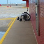 a abandon wheelchair