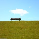 Bench on a hill